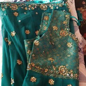 Dresses & Skirts - Teal blue anarkali